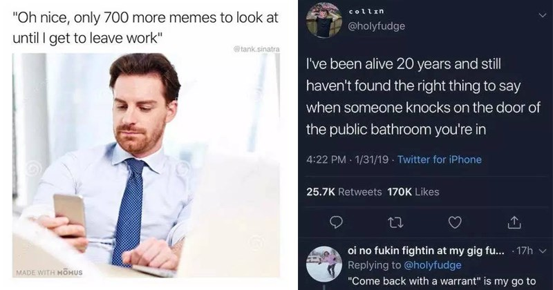 funny memes, meme about going to work to look at memes