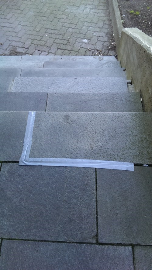 stairs duct tape there I fixed it - 7849123584