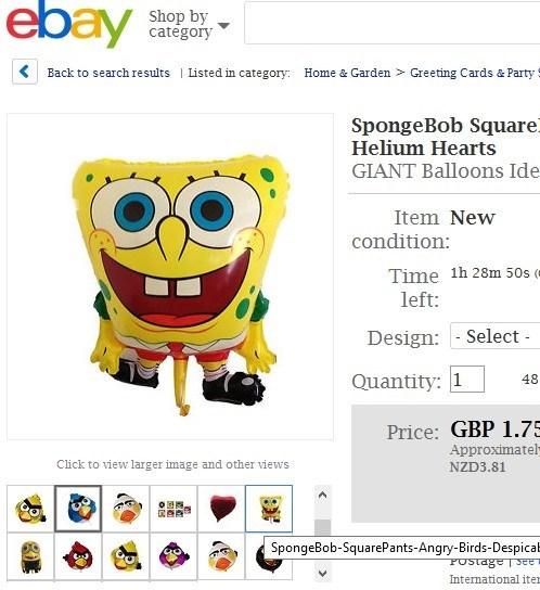 FAIL kids Balloons SpongeBob SquarePants parenting - 7849899008
