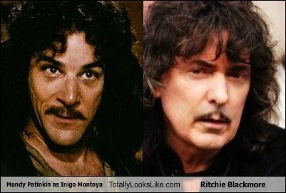 inigio montoya,ritchie blackmore,totally looks like,funny