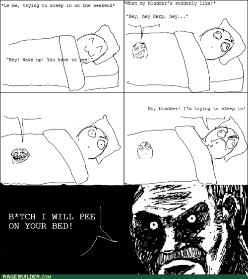 trollface,weekends,sleeping in