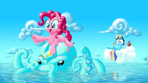beach pinkie pie rainbow dash - 7850577152
