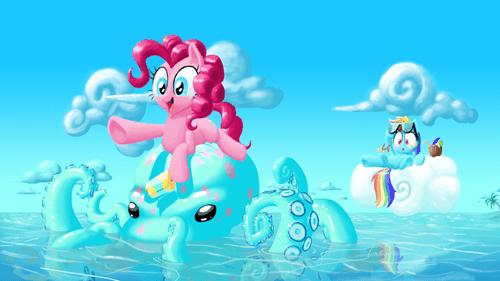 beach pinkie pie rainbow dash - 7850577152