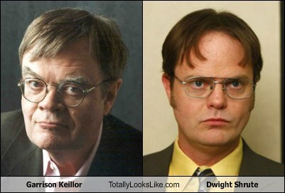 garrison keillor,totally looks like,dwight shrute,funny