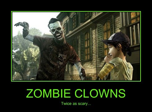 scary clowns zombie video games funny - 7850733056
