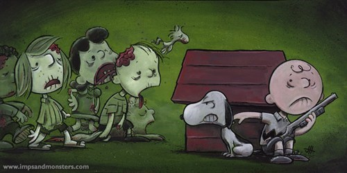 Fan Art mashup peanuts The Walking Dead - 7850856192