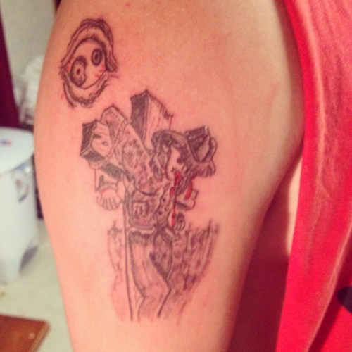 jesus wtf tattoos robots funny - 7851093248