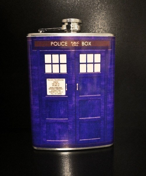 tardis,doctor who,flask,funny