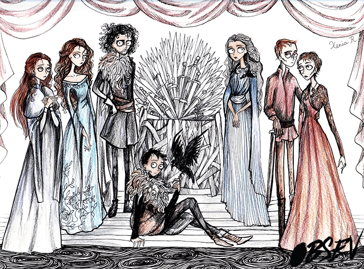 drawing art Game of Thrones tim burton - 785157