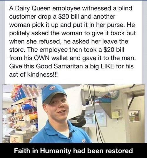 dairy queen,restoring faith in humanity week