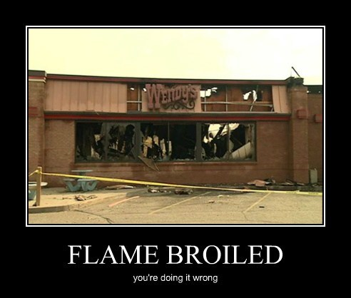 flame doing it wrong burger king funny - 7852087808