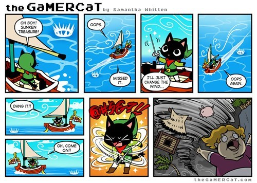 the gamer cat,windwaker,web comics