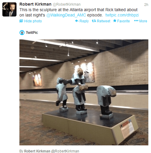 statue Atlanta celebrity twitter The Walking Dead - 7852478976