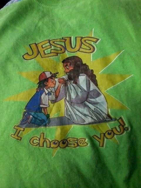 jesus fashion Pokémon shirt