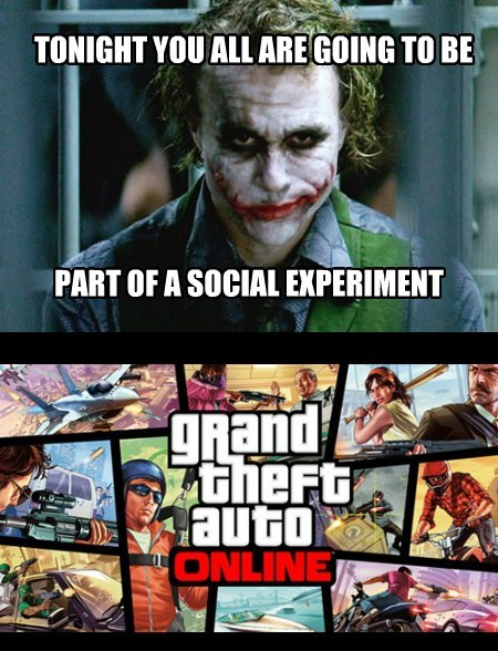 joker experiments GTA V funny - 7852739584