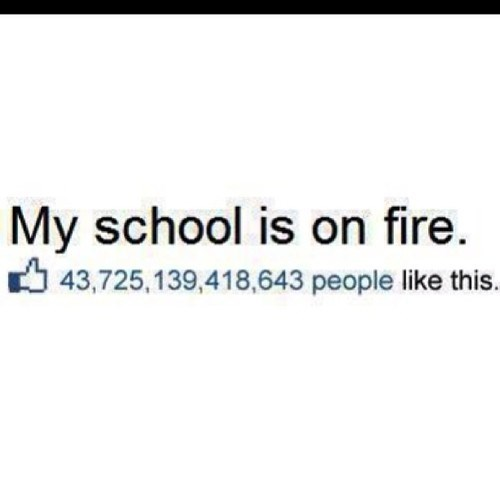 school,fire,facebook,funny,g rated,School of FAIL