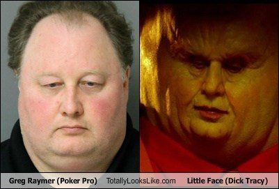 greg raymer,totally looks like,little face,funny