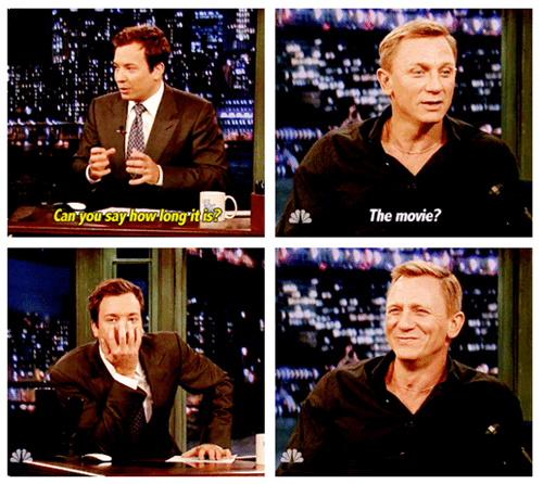 Daniel Craig,jimmy fallon,late night,james bond