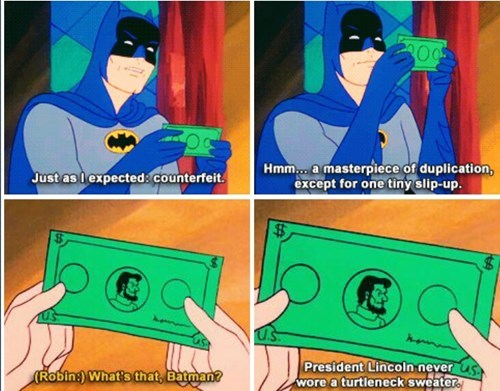 counterfeit turtleneck cartoons batman - 7853040896