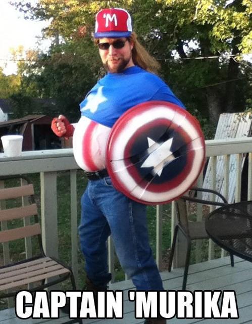 cosplay captain america Murika - 7853280768