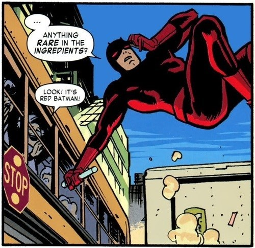 off the page batman daredevil - 7853292800