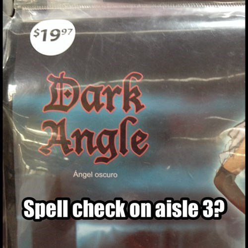 angel FAIL Spooky FAILs and HalloWINs angle g rated spelling - 7853719552
