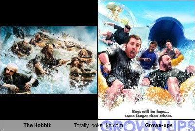 The Hobbit,totally looks like,grown ups,funny