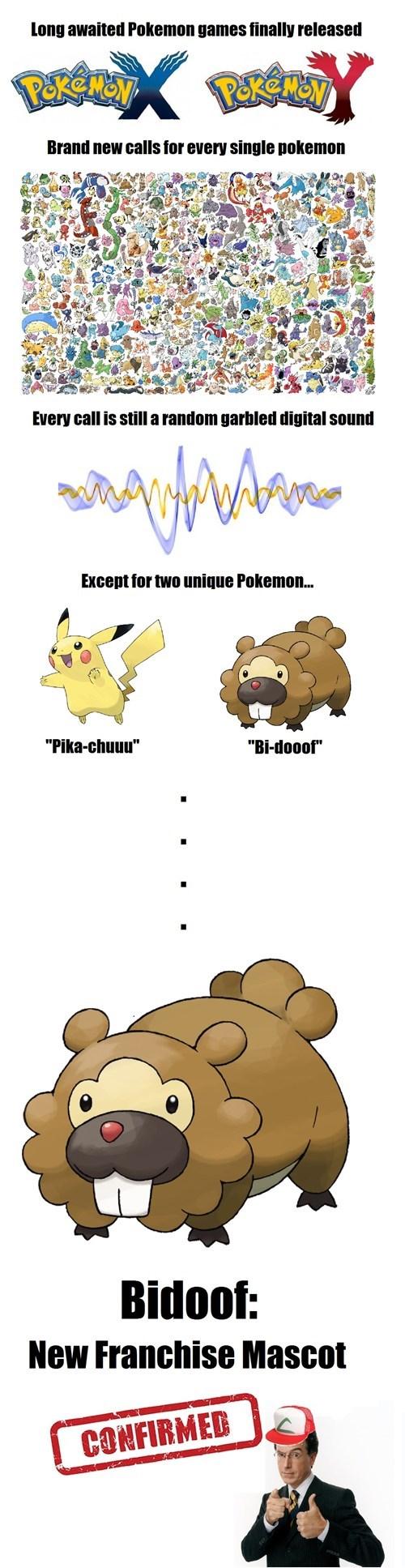 pokemon xy,bidoof,pikachu
