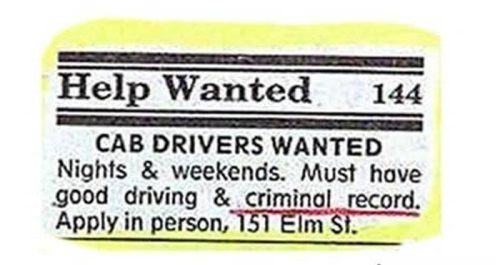 criminals papers help wanted - 7854067968