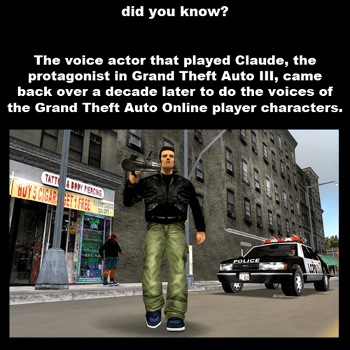 did you know Grand Theft Auto Online voice actors - 7854214144