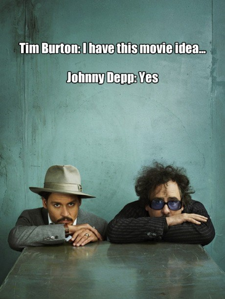 cycle tim burton Johnny Depp - 7854379776