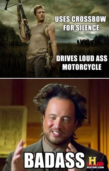 daryl dixon alien meme BAMF The Walking Dead - 7854456576