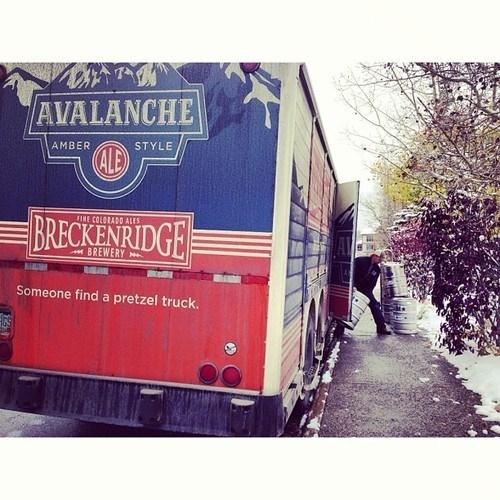 beer pretzels truck funny - 7854464000
