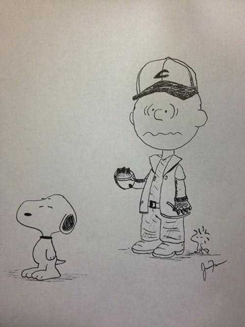 crossover,Pokémon,peanuts,comics,Fan Art