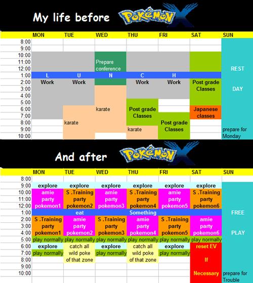 Pokémon,schedules