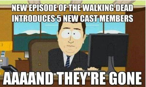 job security cast and they're gone The Walking Dead - 7854520320