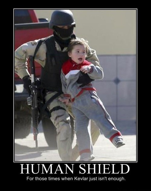 wtf human shield funny
