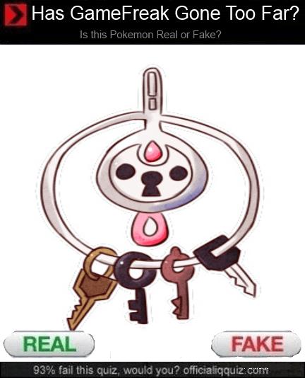 klefki Pokémon Game Freak real or fake - 7854601472
