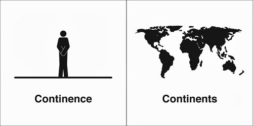 continents continence homophone funny - 7854621184