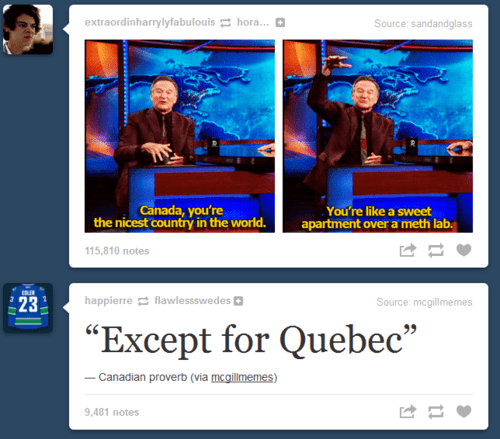 Canada except for quebec quebec robin williams