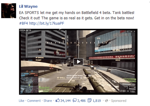 EA sports FPS dice Battlefield 4 lil wayne video games - 7854958080