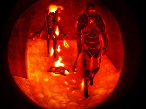 half life ghoulish geeks jack o lanterns video games - 7855238400