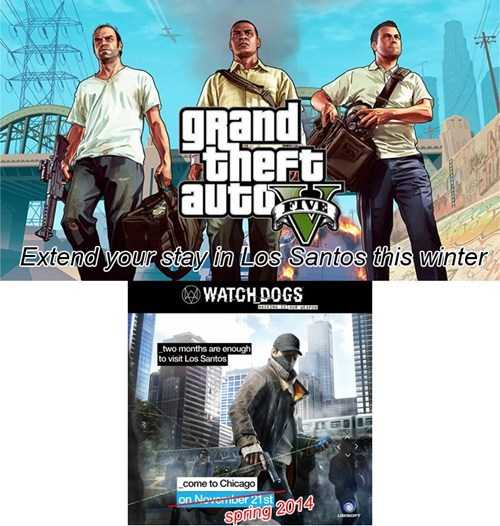 Ubisoft grand theft auto v watch dogs - 7855732480