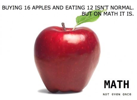 wtf apples math funny - 7856057600