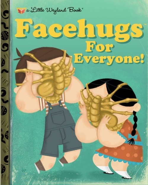 wtf kids facehuggers books funny - 7856216320