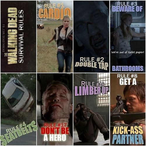 rules,survival guide,Zombieland,The Walking Dead