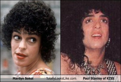 gifs,KISS,marilyn sokol,paul stanley,totally looks like,funny