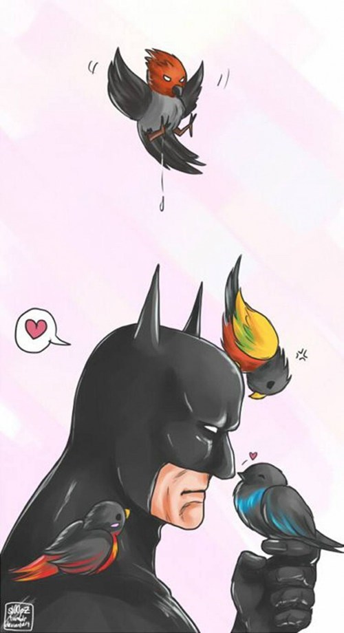 Fan Art birds robin batman - 7856585728