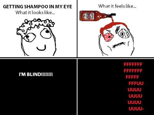 frank's red hot,blindness,shampoo