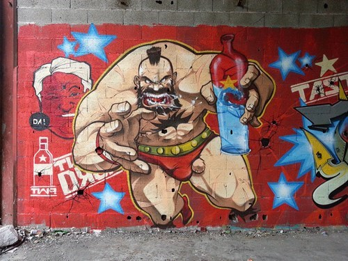 zangief graffiti Street fighter video games funny g rated win - 7856800000
